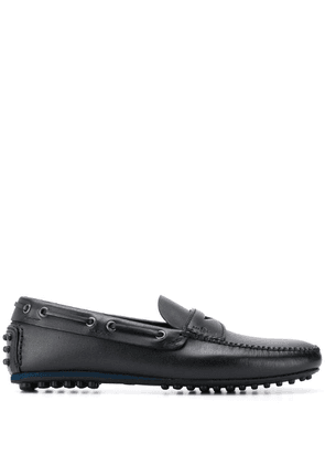 Car Shoe Kud ridged sole loafers - Black