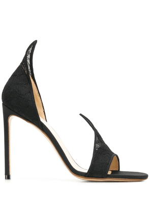 Francesco Russo open toe pumps - Black