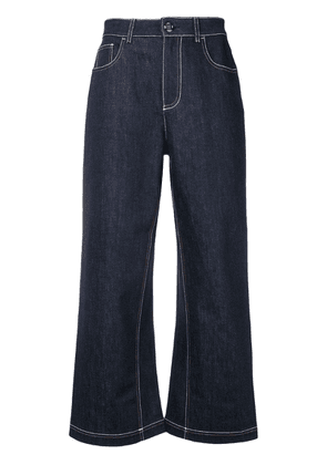 Fendi flared cropped jeans - Blue