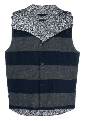 Engineered Garments striped reversible gilet - Blue