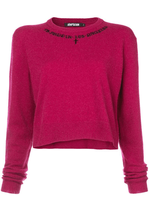 Adaptation crew neck cropped jumper - Pink