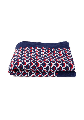 Valentino scale print towel - Blue