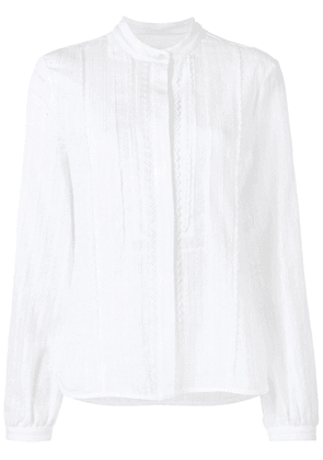Diesel Black Gold embroidered voile blouse - White