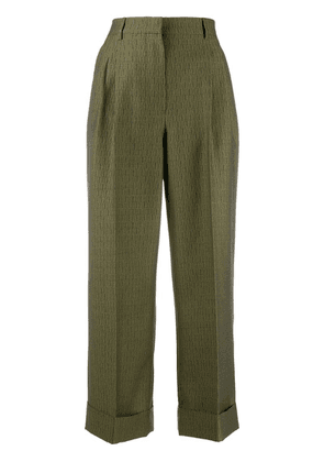 Fendi wide-leg palazzo trousers - Green