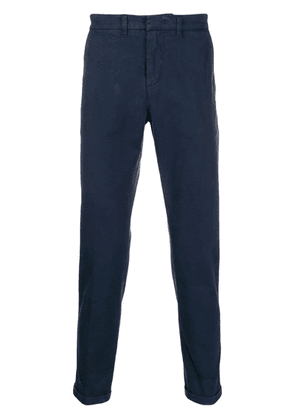 Fay slim fit tapered trousers - Blue