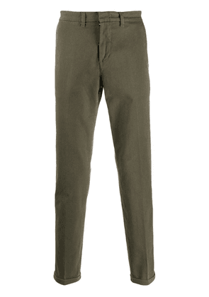 Fay slim fit tapered trousers - Green