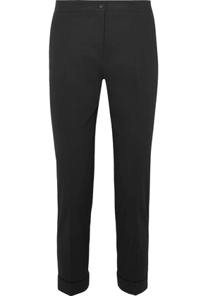 Etro - Cotton-blend Twill Slim-leg Pants - Black
