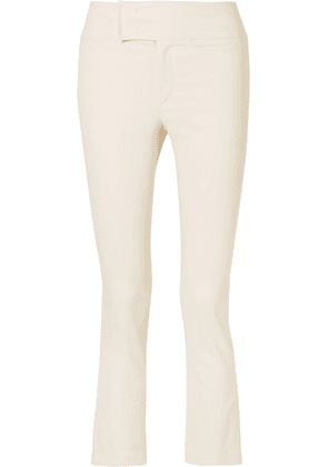 Isabel Marant - Ovida Cropped Cotton-blend Skinny Pants - Ecru