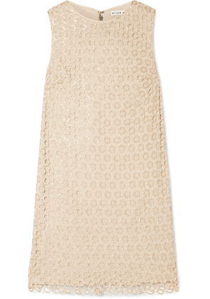 Alice + Olivia - Clyde Sequined Crochet-knit Mini Dress - Beige