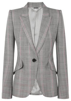 Alexander McQueen - Prince Of Wales Checked Wool Blazer - Gray