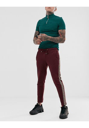 ASOS DESIGN skinny cropped joggers with geo taping