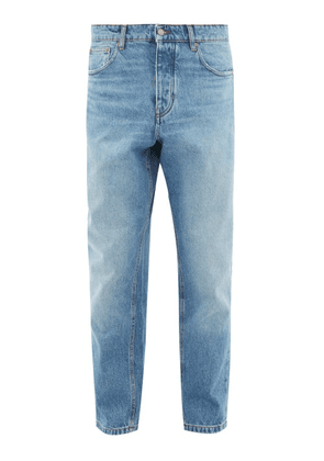 Ami - Faded Tapered Leg Jeans - Mens - Light Blue