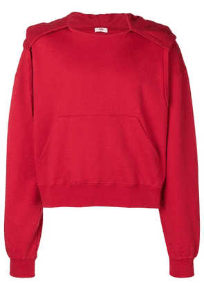 Cmmn Swdn basic hoodie - Red