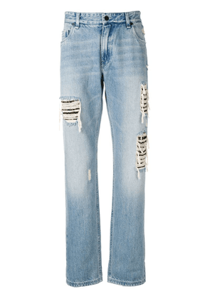 Fendi distressed jeans - Blue
