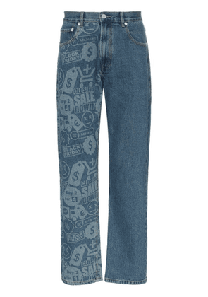 Cmmn Swdn Connor printed jeans - Blue
