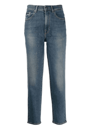 7 For All Mankind glitter straight jeans - Blue