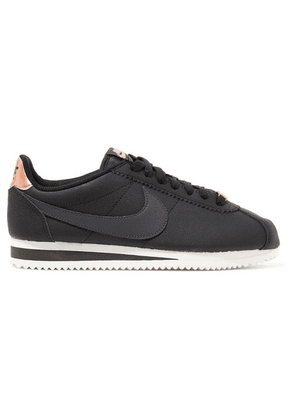 Nike - Classic Cortez Textured-leather Sneakers - Black