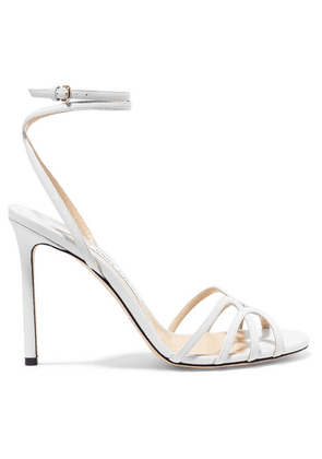 Jimmy Choo - Mimi 100 Leather Sandals - White