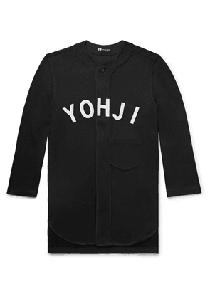 Y-3 - Oversized Appliquéd Loopback Cotton-jersey Baseball Shirt - Black