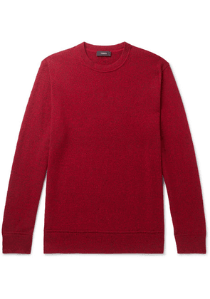 Theory - Hills Mélange Cashmere Sweater - Red