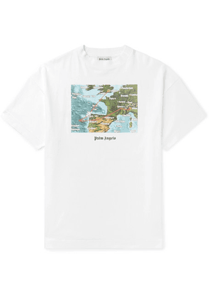 Palm Angels - Lost Flight Printed Cotton-jersey T-shirt - White