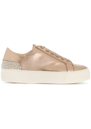 Agl flat lace up sneakers - Metallic