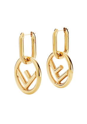 Fendi F is Fendi earrings - Gold
