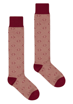 Gucci Cotton socks with GG pattern - Red