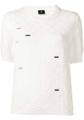 PS Paul Smith white knit top