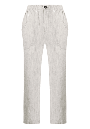 Blue Blue Japan cropped slim-fit trousers - Neutrals