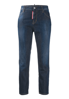 Dsquared2 cropped girlfriend fit jeans - Blue