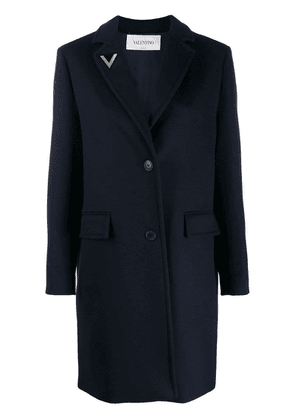 Valentino V pin single-breasted coat - Blue