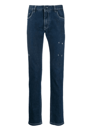 Fendi Diabolic Eyes slim-fit jeans - Blue