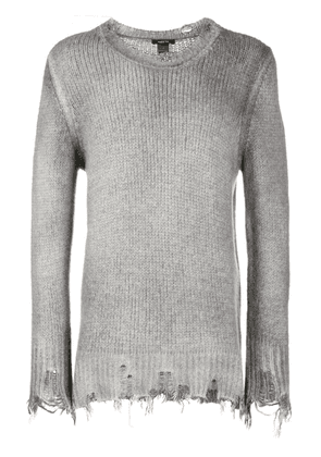 Avant Toi destroyed knit sweater - Grey