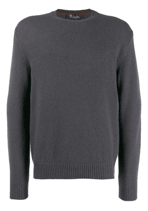 Loro Piana fine knit sweatshirt - Grey