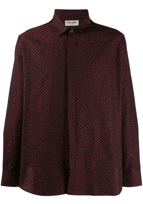 Saint Laurent abstract check shirt - Red