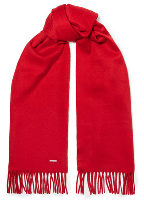 Loro Piana - Fringed Cashmere Scarf - Red