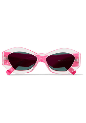 Le Specs - The Ginchiest Hexagon-frame Acetate Sunglasses - Bright pink