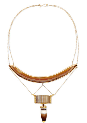 Melissa Joy Manning - 14-karat Gold Agate Necklace - one size