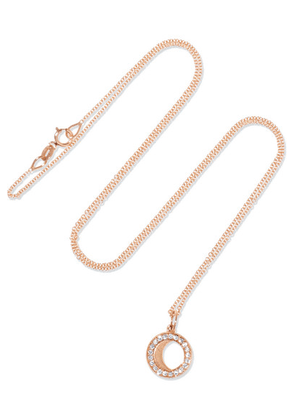 Andrea Fohrman - Waning/ Waxing Gibbous Moon 18-karat Rose Gold Diamond Necklace - one size