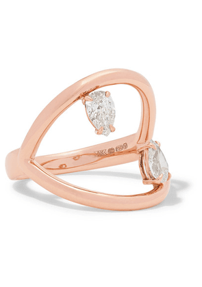 Anita Ko - Arc 18-karat Rose Gold Diamond Ring - 6