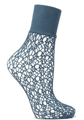 Wolford - Fishnet Socks - Petrol