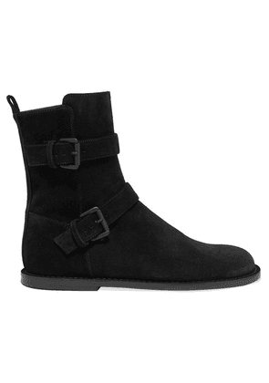 Ann Demeulemeester - Buckle-detailed Suede Ankle Boots - Black