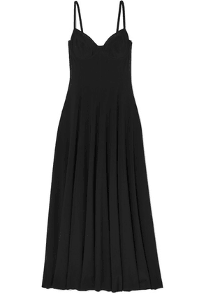 Norma Kamali - Stretch-jersey Midi Dress - Black
