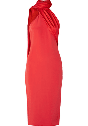 Cushnie - Draped Silk-satin Dress - Red