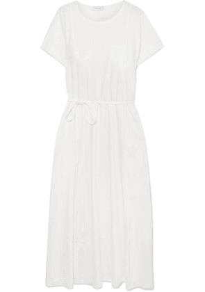 Lemaire - Belted Cotton-jersey Midi Dress - White