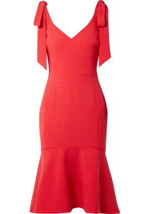 Rebecca Vallance - Domingo Bow-embellished Crepe Midi Dress - Red