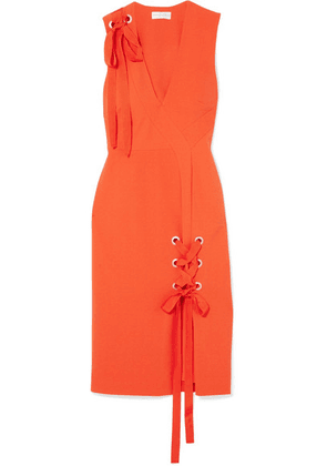 Rebecca Vallance - Martinique Lace-up Crepe Midi Dress - Orange