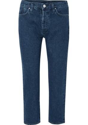 Goldsign - The Low Slung Cropped Mid-rise Straight-leg Jeans - Dark denim