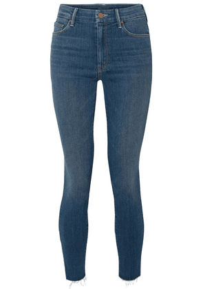 Mother - The Looker Frayed High-rise Skinny Jeans - Mid denim